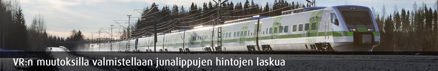 VR tähtää junamatkustuksen kasvuun