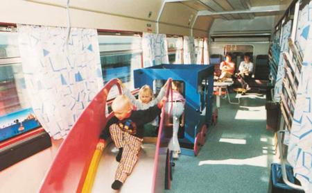 Lastenvaunut Junassa