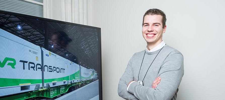 VR Transpointin ensimmäinen Fleet Manager Miikka Kitusuo on koulutukseltaan tuotantotalouden diplomi-insinööri.