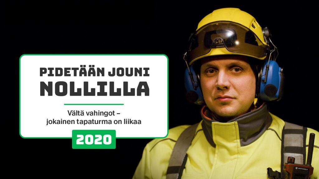 """Ratapihatyöntekijöitä on lähtenyt mukaan turvallisuuskampanjoihin. """"Pidetään Jouni nollilla"""" -kampanjassa esiintyi Kotkassa työskentelevä vaihtotyönjohtaja ja työnopastuksen yhdyshenkilö Jouni Kylmälä."""