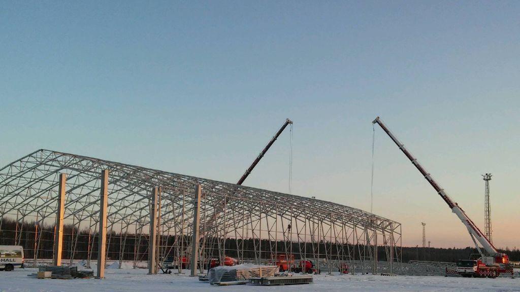 Terminaalin rakennustyöt olivat käynnissä helmikuun alussa.