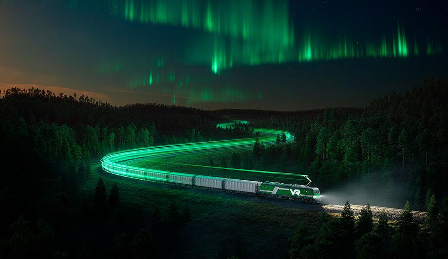 Tavarajunaliikenteestä jo 79 prosenttia kulkee uusiutuvalla, vesivoimalla tuotetulla sähköllä.