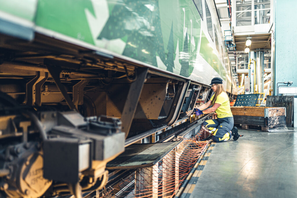 Train in operational maintenance at the depot