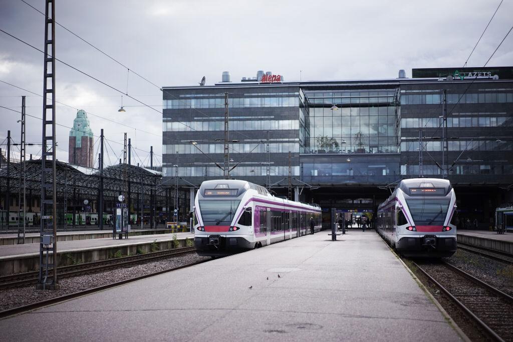 Flirt-lähijunia Helsingissä