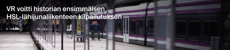 VR voitti historian ensimmäisen HSL-lähijunaliikenteen kilpailutuksen