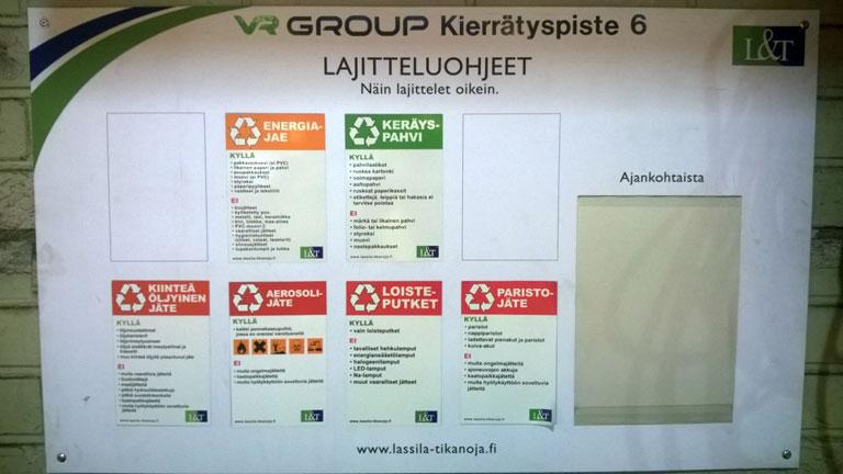 Helsingin varikon kierrätyspiste
